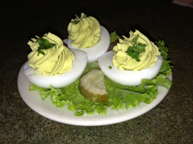 Wasabi deviled eggs